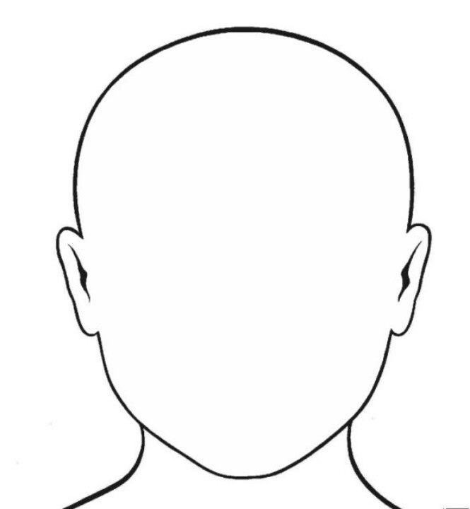 665x720 Face Outline Drawing Outlines, Teaching Portfolio
