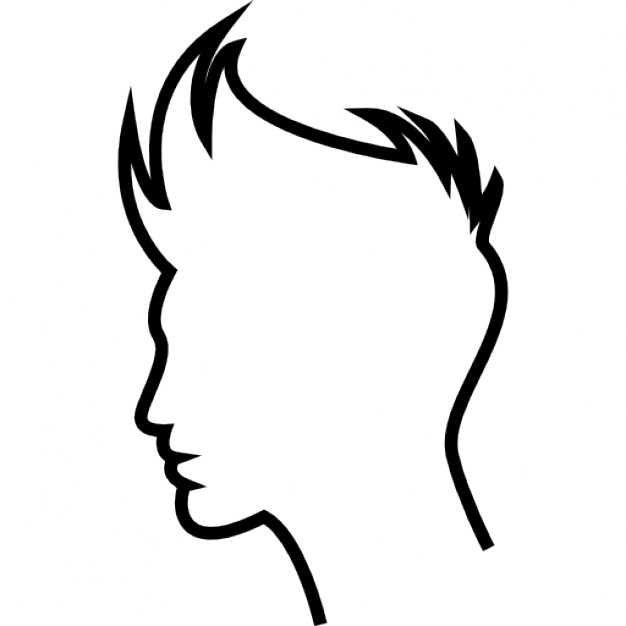 626x626 Boy Hair Outline Icons Free Download