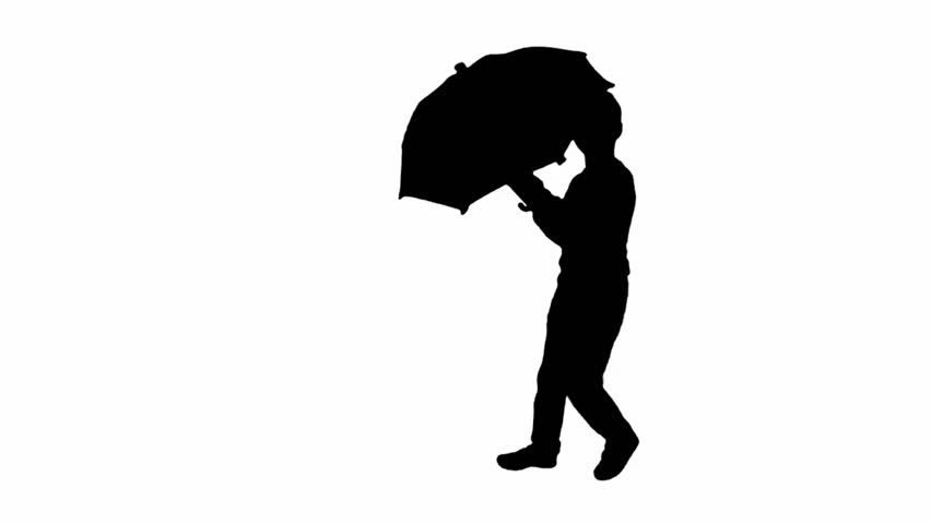 852x480 Silhouette Of A Boy Who Dances. Stock Footage Video 15037789
