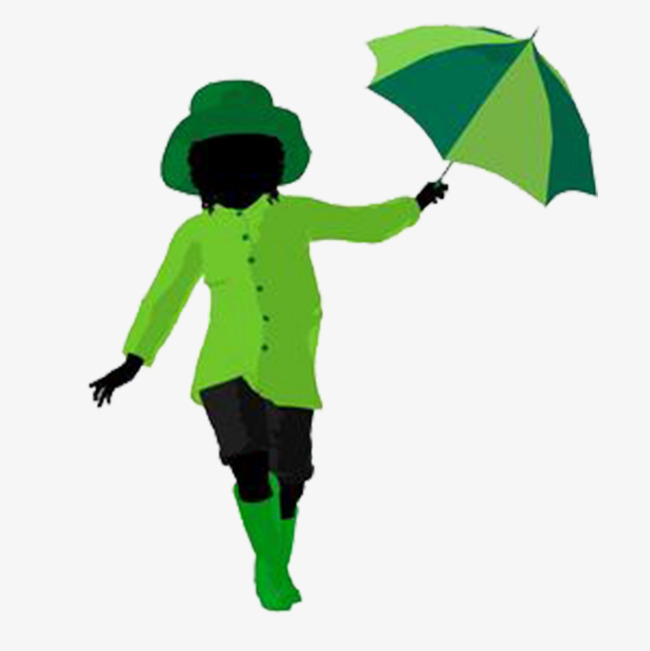 650x651 Take An Umbrella Silhouette Boy, Umbrella, Boy, Sketch Png