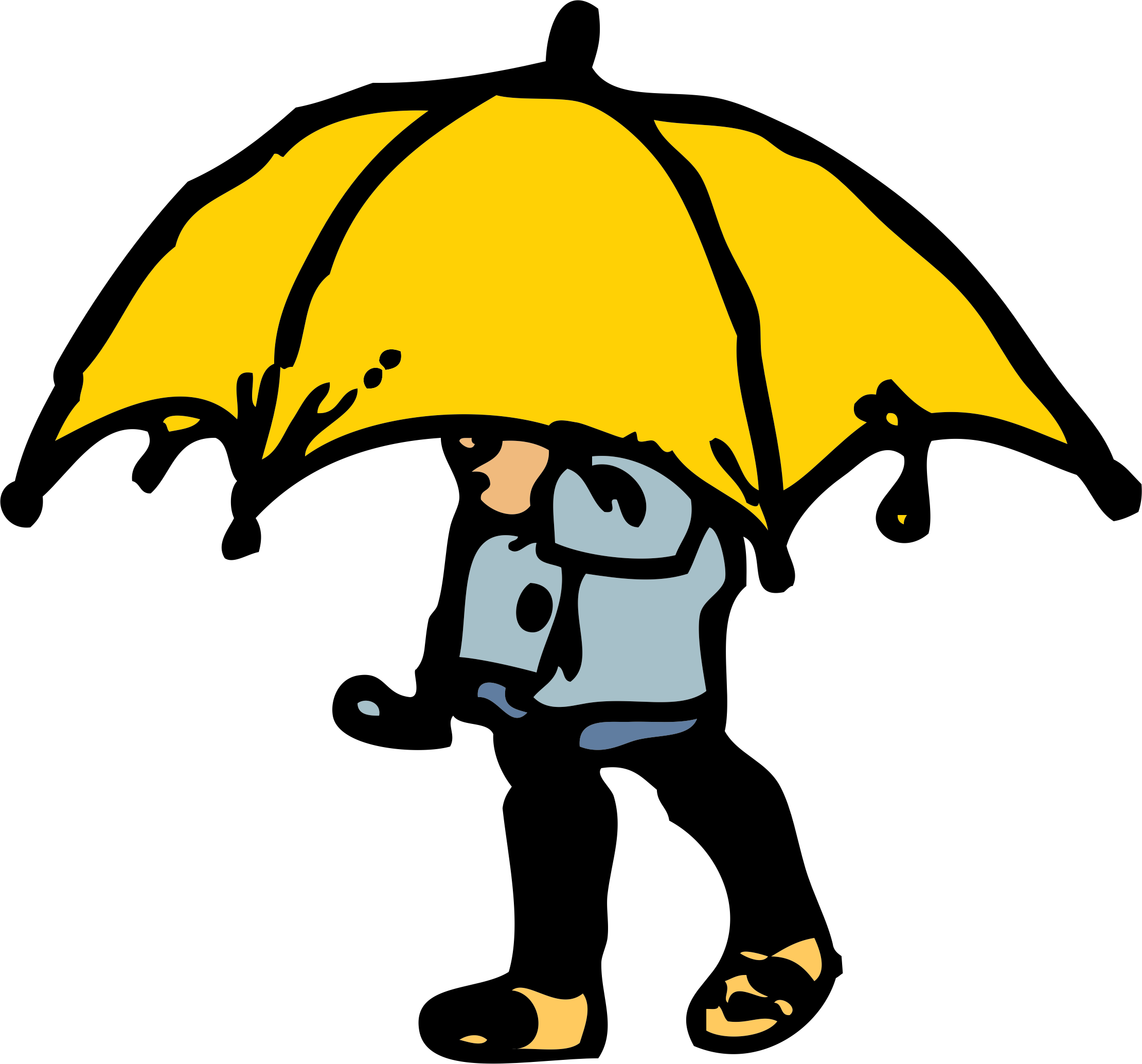 2220x2068 Little Boy Big Umbrella Icons Png