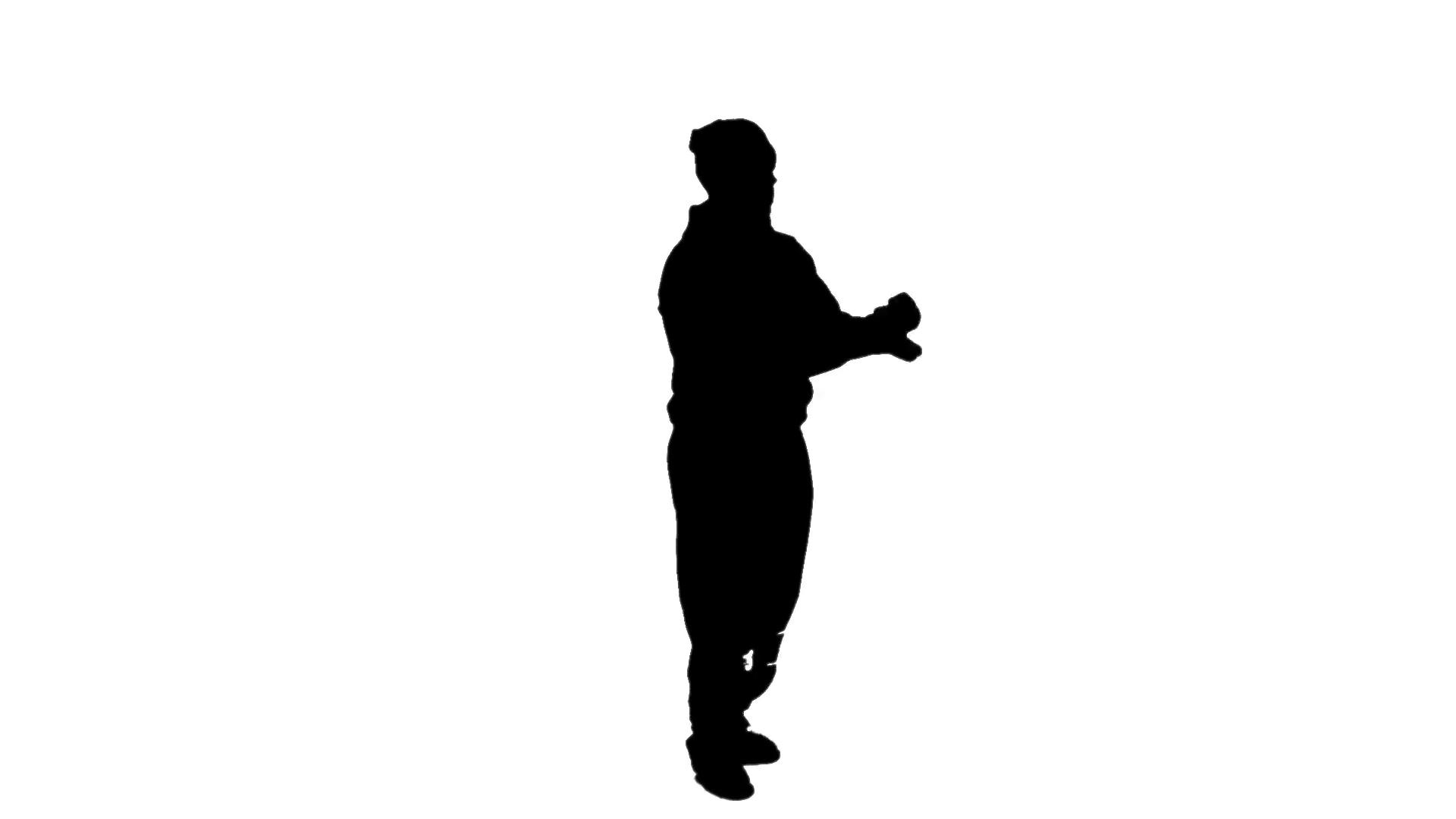 1920x1080 Silhouette Of B Boy Popping