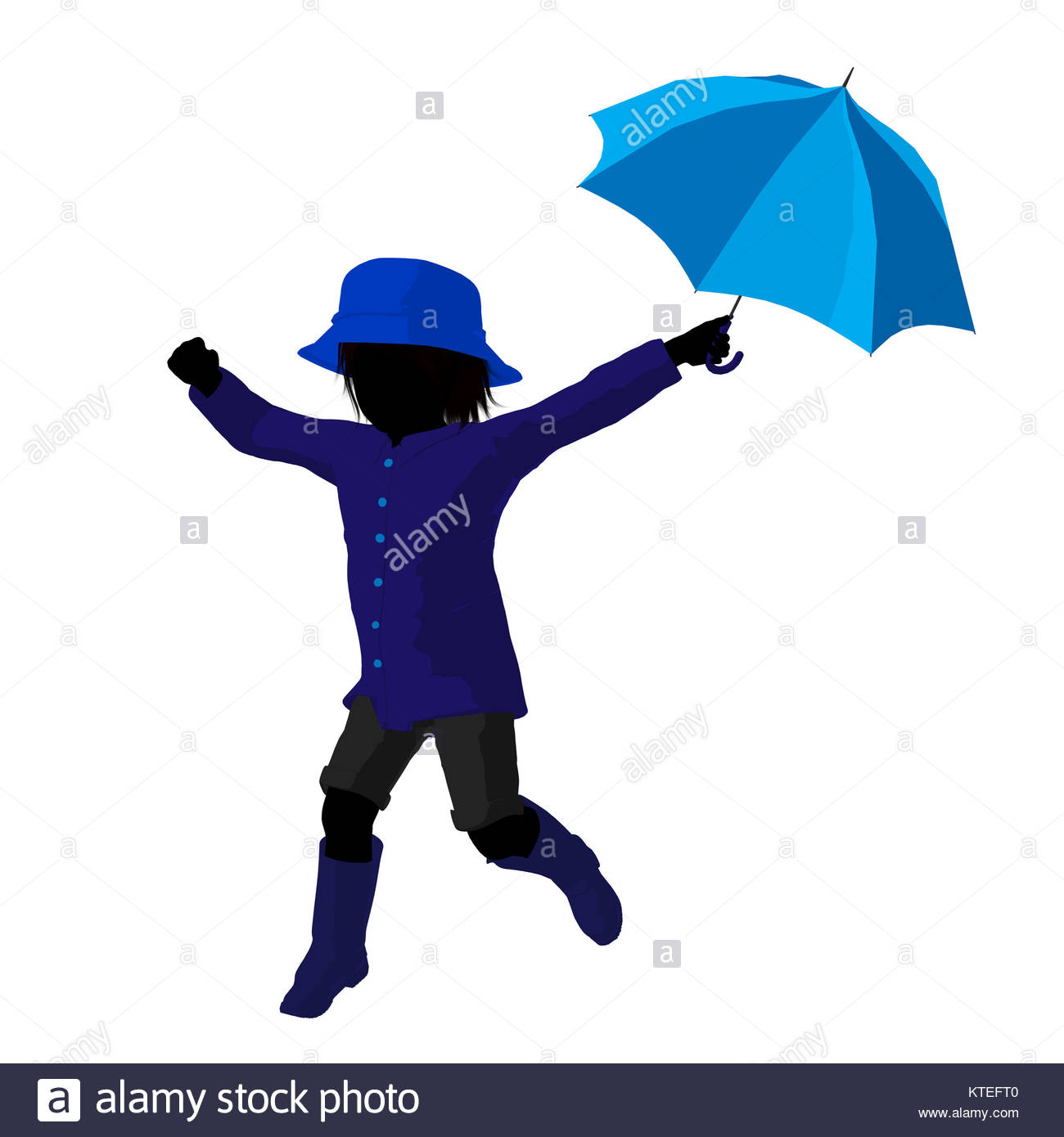 boy with umbrella silhouette at getdrawings com free for personal