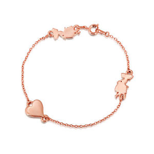 300x300 Disney Rose Gold Plated Alice In Wonderland Silhouette Bracelet Ebay