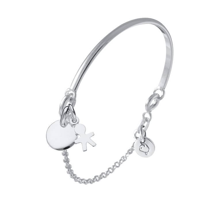 720x720 Half Bangle And Chain Bracelet Medal Boy Silhouette L'Atelier D'Amaya