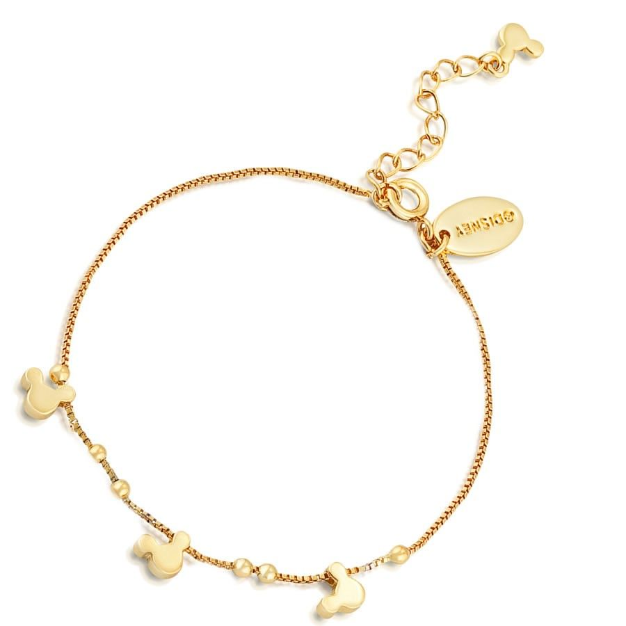 900x900 Minnie Mouse Rocks Gold Bracelet By Disney Couture. Gold Plated