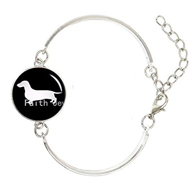 395x395 Glass Cabochon Dome Dog Art Picture Bangle, Dog