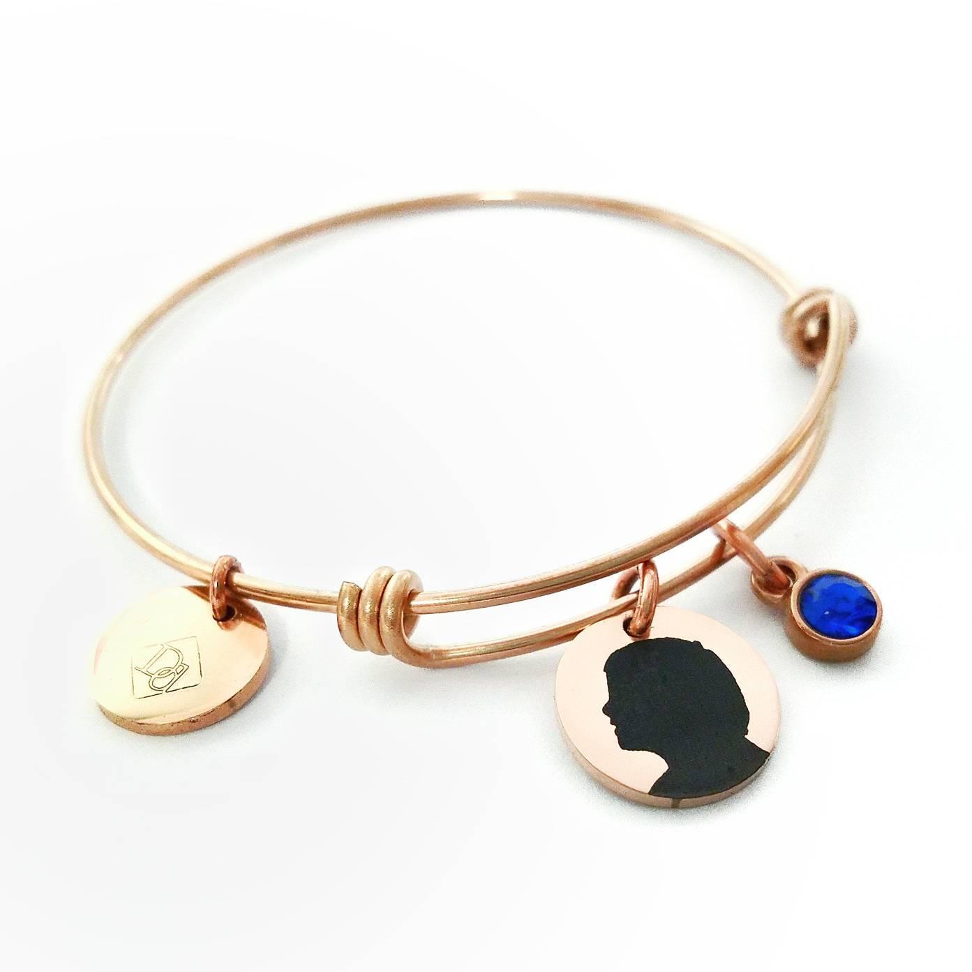 1393x1393 Mom Bangle Mother Bracelet Silhouette Charm Bracelet