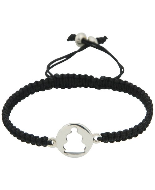 500x613 Silhouette Cord Bracelet With Sterling Silver