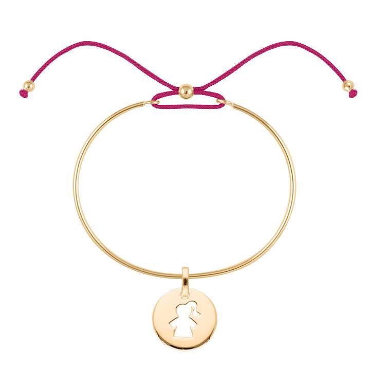 720x720 Silver Tie Bangle Bracelet And Girl Silhouette Medal L'Atelier D'Amaya