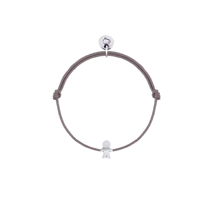 720x720 Tie Bracelet Small Silver Boy Silhouette For Children L'Atelier D