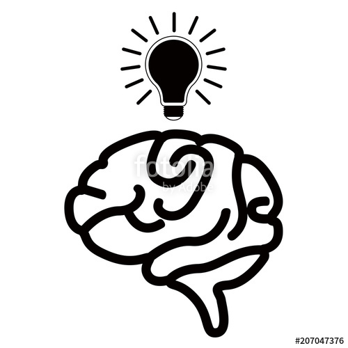 500x500 Isolated Brain Silhouette Stock Image And Royalty Free Vector