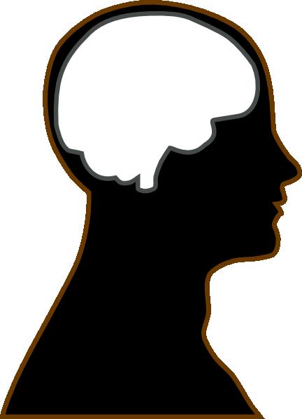 432x599 Silhouette Brain Clip Art