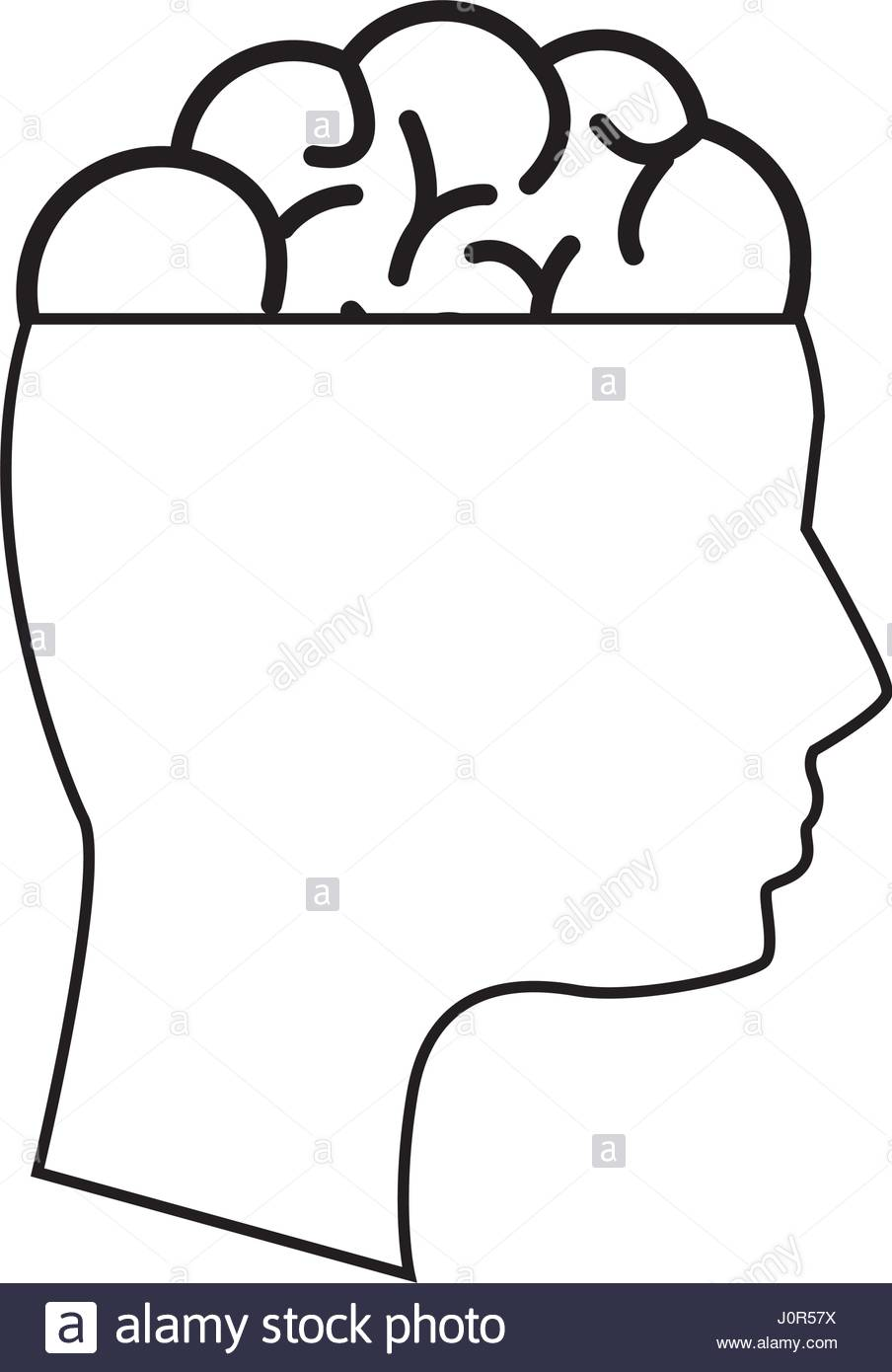 904x1390 Mental Health Silhouette Person With Brain Stock Vector Art