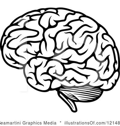 400x420 Silhouette Cameo Brain