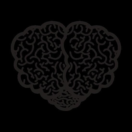550x550 Brain Silhouette Top View