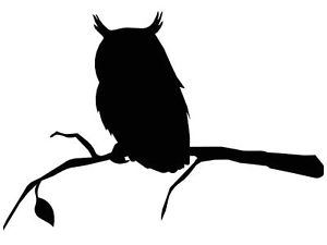 300x225 Owl On A Branch Silhouette In Mild Steel For Weather Vanes
