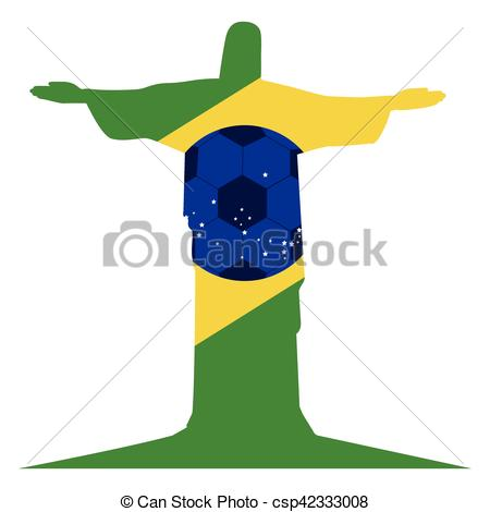 450x470 Colorful Silhouette With Brazil Symbol Vector Illustration Vector