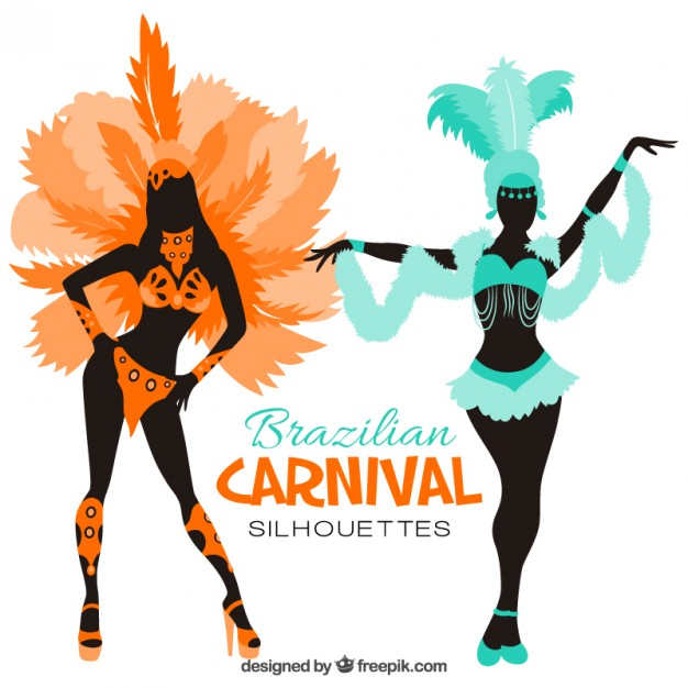 626x626 Silhouettes Of Brazilian Carnival Costumes Vector Free Download