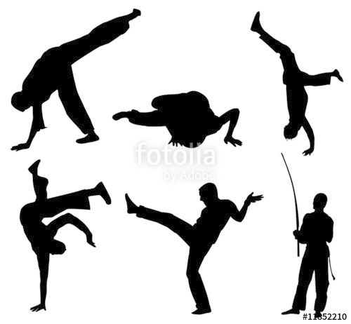 500x462 Brazil Capoeira Silhouette Stock Image And Royalty Free Vector