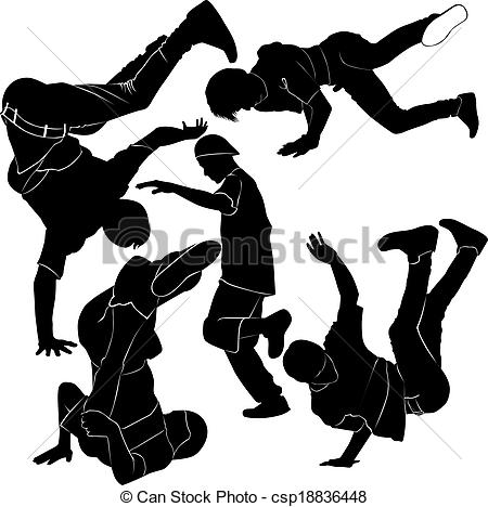 450x468 Collection Breakdance Silhouette Break Dance Stock Photo