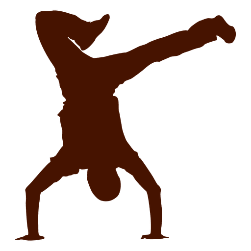 512x512 Male Dancer Break Dance Silhouette 1