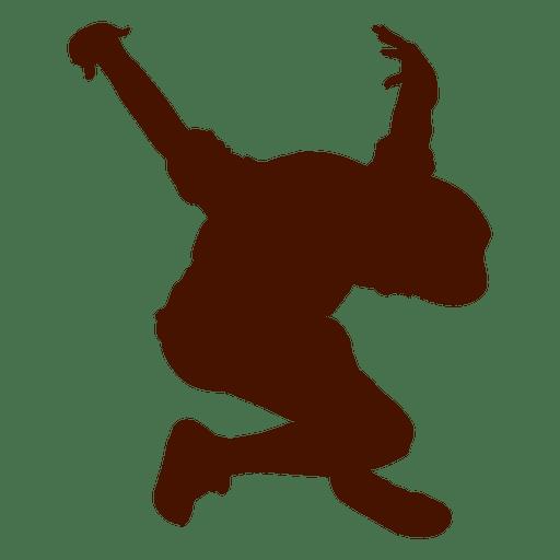 512x512 Male Dancer Break Dance Silhouette 3