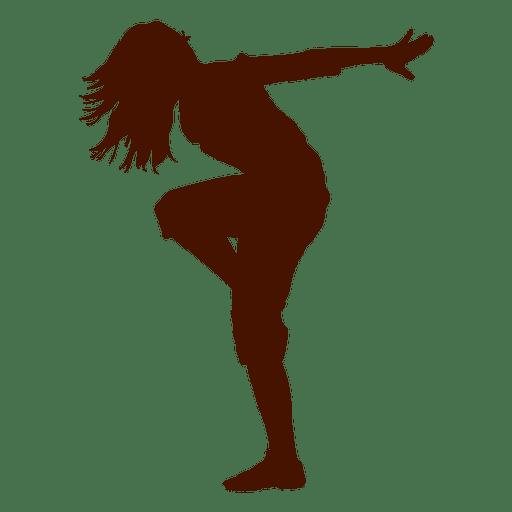 512x512 Female Dancer Break Dance Silhouette 2
