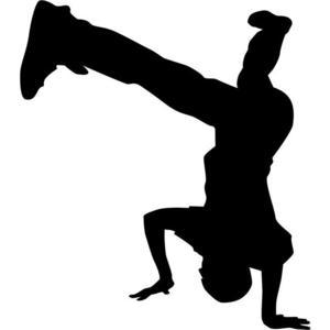 300x300 Headstand Break Dance Stencil By Crafty Stencils