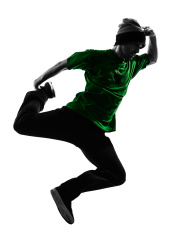 176x235 Hip Hop Dancer Stock Vector