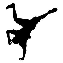 270x270 Break Dancer Silhouette Stencil Free Stencil Gallery