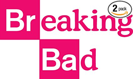 425x253 Angdest Breaking Bad Logo (Pink) (Set Of 2