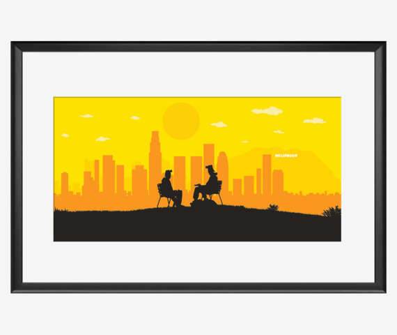 570x480 Los Angeles Skyline Print Breaking Bad Inspired Breaking