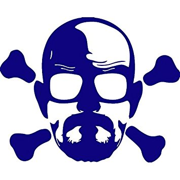 355x355 Breaking Bad Heisenberg Crossbones (Navy Blue) (Set