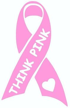 Breast Cancer Ribbon Silhouette