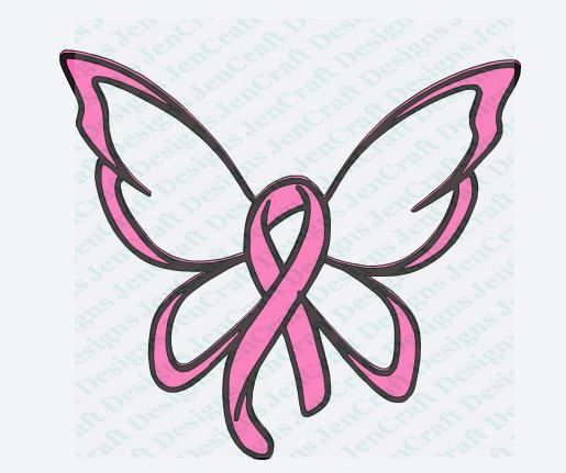 515x431 Breast Cancer Ribbon Butterfly Svg Cut File