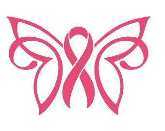 340x270 Cancer Awareness Ribbon Butterfly Yeti Decalsticker Cancer