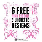 170x170 Pink Ribbon Cuttable Design Cut File. Vector, Clipart, Digital
