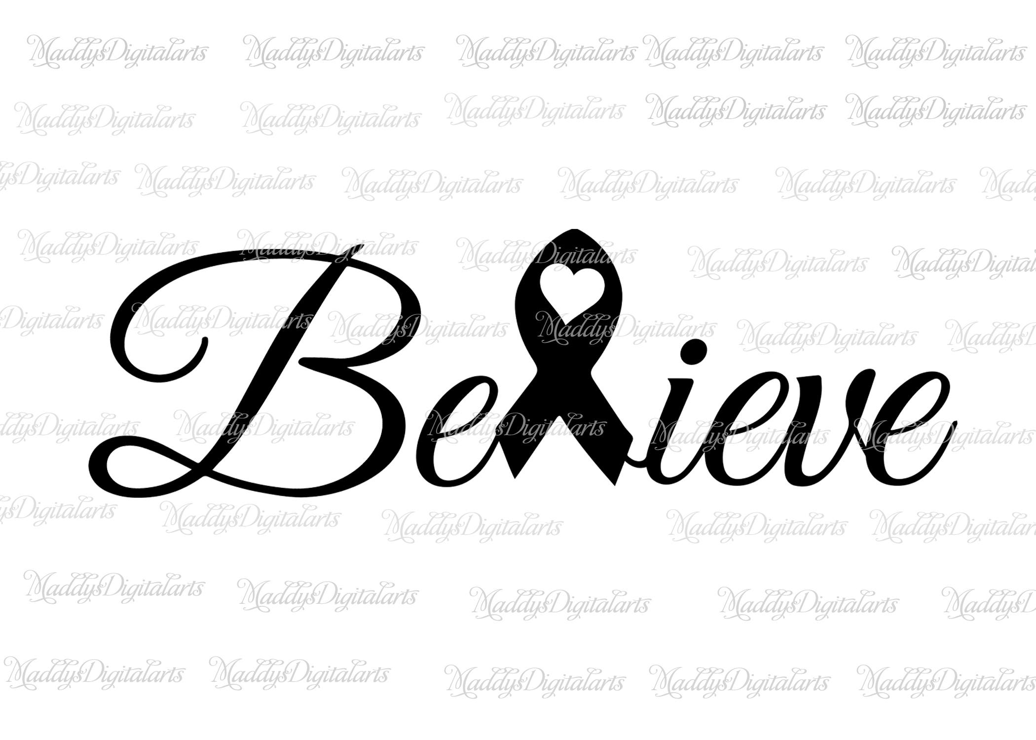 2100x1500 Believe Cancer Ribbon , Breast Cancer Svg,breast Cancer Awareness