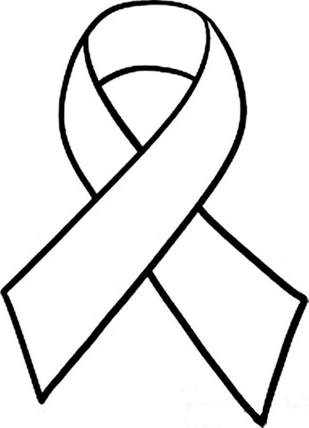 Breast Cancer Ribbon Silhouette At Getdrawings Free For
