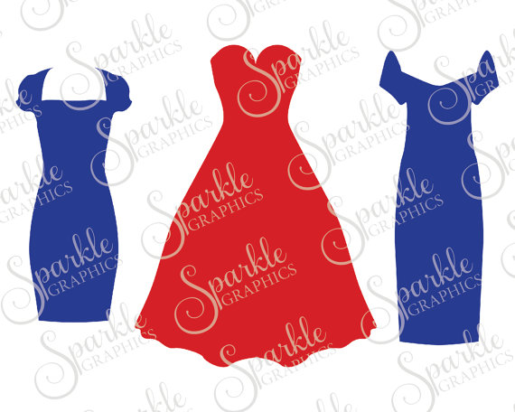 570x456 Dress Set Cut File Bachelorette Dress Svg Wedding Svg Party Svg