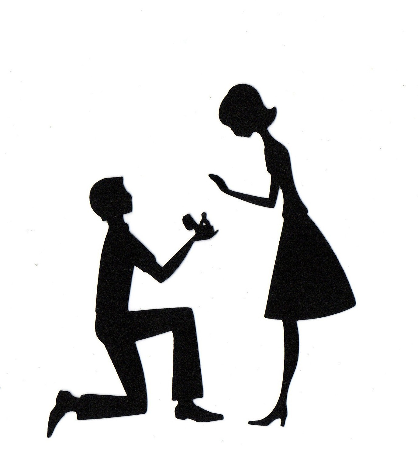 1375x1500 Gallery Engagement Silhouette Clip Art,