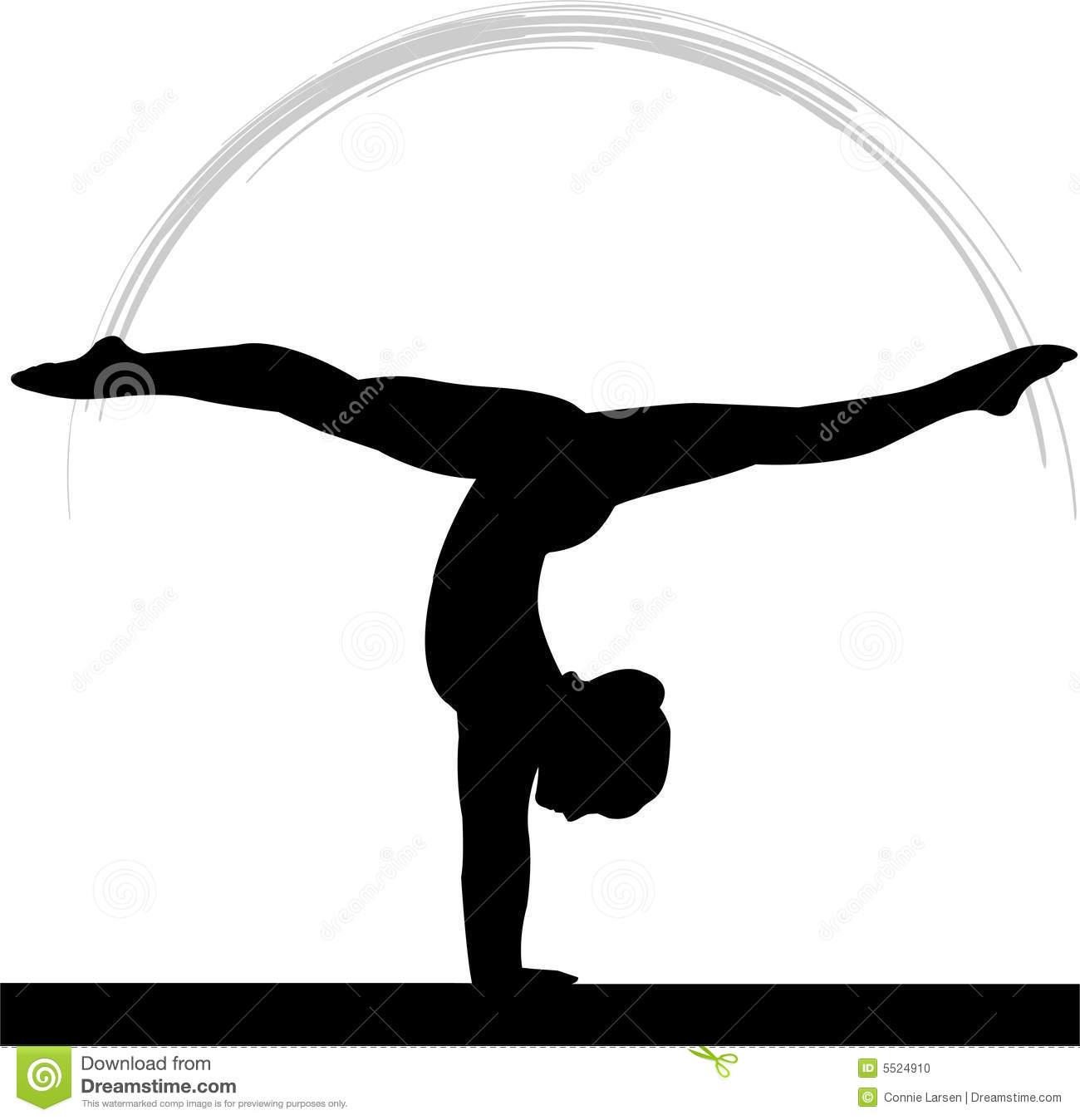 1300x1348 Gymnast Silhouette Clip Art