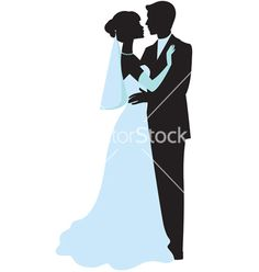 236x248 Holding Hands Bride And Groom Wedding Silhouette Die Cut For Scrap