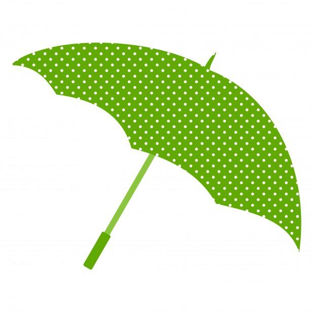 615x615 Polka Dot Umbrella Clipart