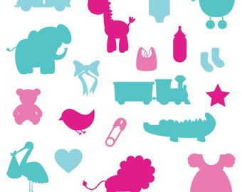 340x270 Baby Shower Silhouettes Clipart Clip Art Commercial