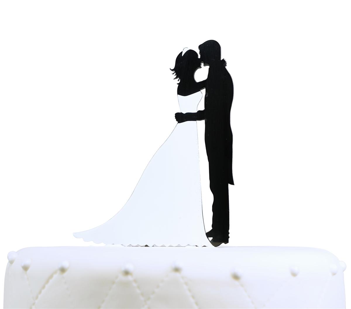 1200x1055 Couple Silhouette Acrylic Cake Topper