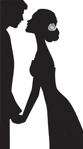 270x480 Silhouette Of Bride And Groom Clipart Collection