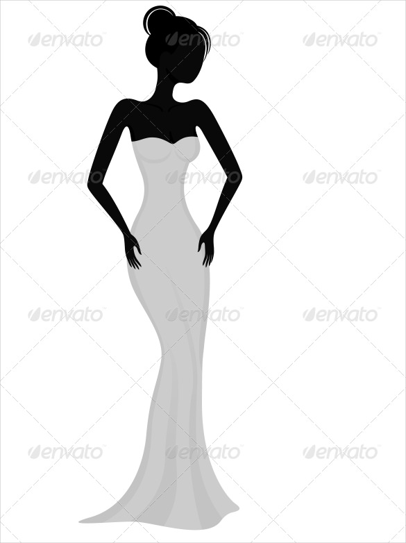 585x782 Wedding Dress Patterns Free Eps, Ai, Illustration Format