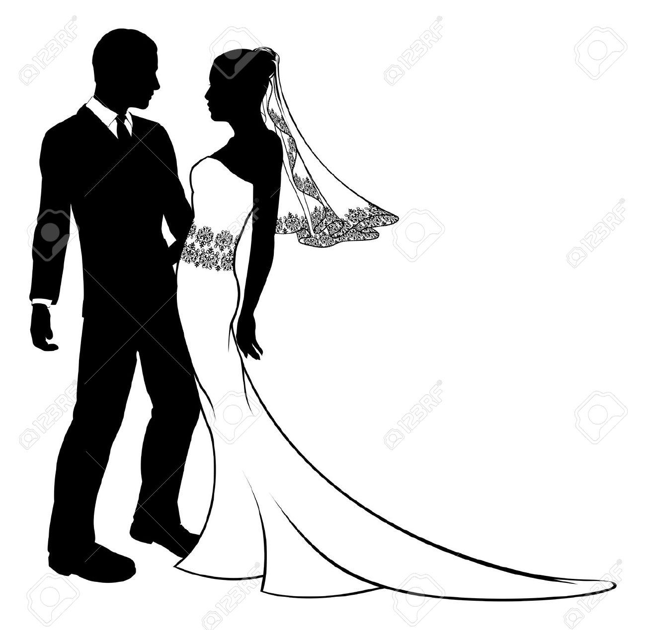 1300x1269 Wedding Dress Clipart Wedding Kiss